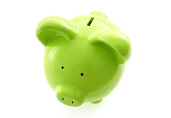 Günstig Ein grünes Sparschwein