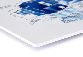 Eine Tafel im Architektur-Wettbewerb