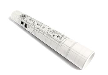 gerollte Zeichnungen - Scan Vorlagen