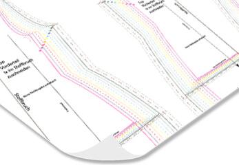 Schnittmuster Plot in Farbe