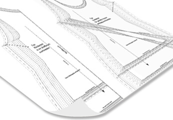 ein Schnittmuster Plot in schwarz-weiß