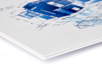 Präsentationsdruck auf Polysterol-Leichtschaumplatte