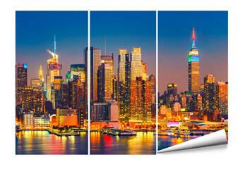 Eine Fototapete mit der Skyline von New York
